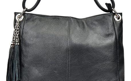 Černá kožená kabelka Anna Luchini Janet
