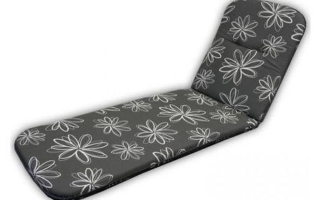 sun garden SCALA LIEGE 30200-700 Polstrování na lehátko - šedá s květy
