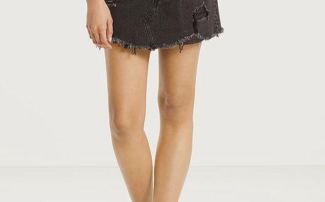 Sukně LEVI'S Deconstructed Skirt Gimme Danger Černá