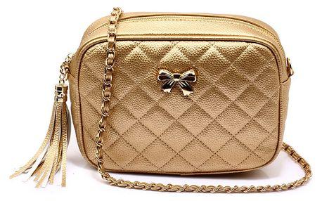 Dámská zlatá kabelka Gisella 540