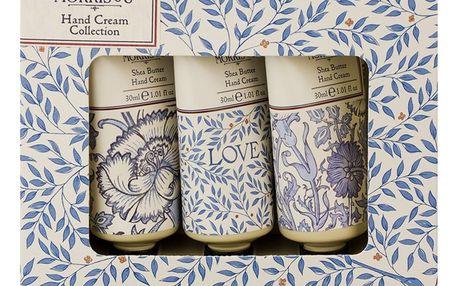 MORRIS & Co. Dárková sada mini krémů na ruce Love Is Enough, modrá barva, krémová barva, plast, papír