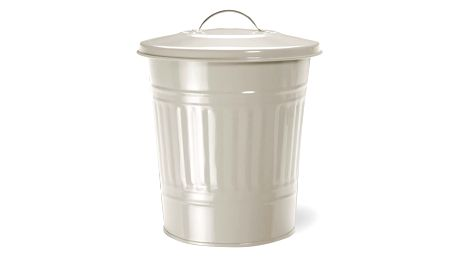 Odpadkový koš Garden Trading Nickel Clay, 10,5 l