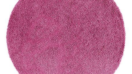 Růžový kulatý koberec Universal Norge, ⌀ 133 cm