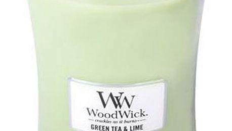 Svíčka s vůní zeleného čaje, máty a limetky WoodWick, dobahoření130hodin