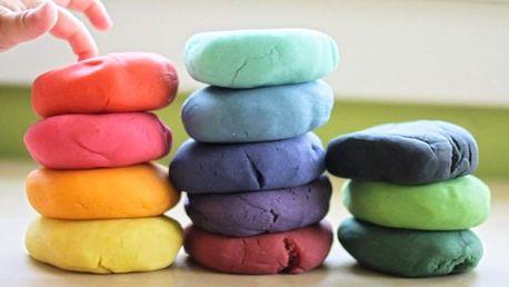 Novinka: Plastelína na bázi jílu - balení 5 barev