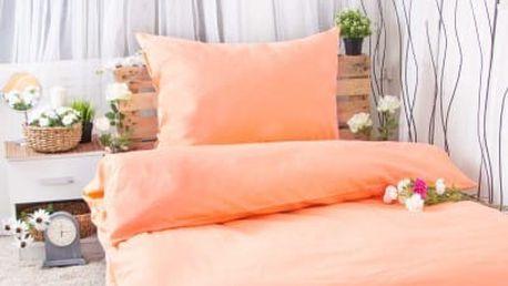 XPOSE ® Bavlněné povlečení na dvě lůžka MICHAELA - meruňková 140x200, 70x90