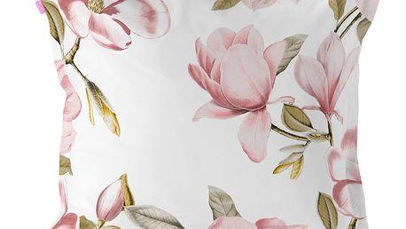 Povlak na polštář z čisté bavlny Happy Friday Magnolia,60x60cm