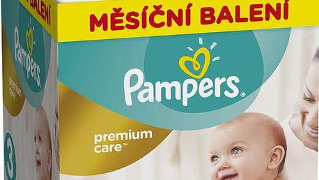 PAMPERS Premium Care 3 MIDI 204 ks (5-9 kg) MĚSÍČNÍ ZÁSOBA – jednorázové pleny
