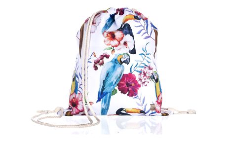 Fashion Icon Sportovní vak Papoušek bílý