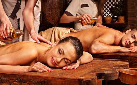 Párová relaxační masáž dle výběru s detox nápojem