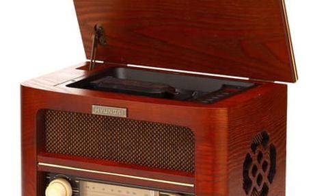 Radiopřijímač s CD Hyundai Retro RC606 RETRO dřevo