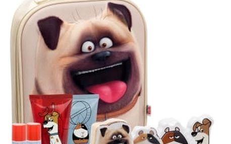 Universal The Secret Life Of Pets dárková kazeta pro děti sprchový gel 50 ml + šampon 2 v 1 50 ml + balzám na rty 2 x 4,5 g + šumivé tablety do koupele 2 x 20 g + kouzelný ručník 2 ks + kosmetická taška