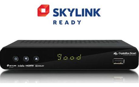 Satelitní přijímač AB Cryptobox Smart HD černý (ABSMART)
