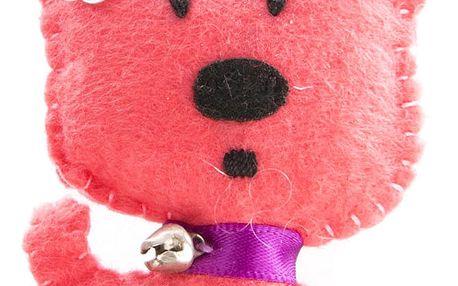 Fashion Icon Brož pes tkanina HAND MADE ruční práce