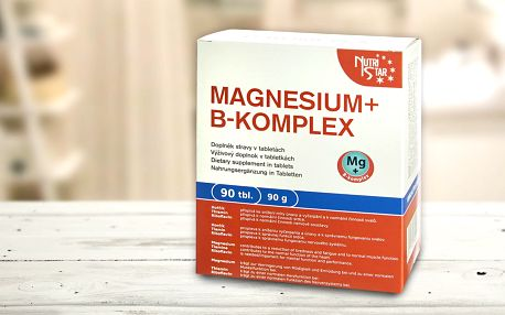Zdroj hořčíku a vitamínů B od Nutristar