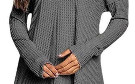 Dámský lehký svetřík s odhalenými rameny - 3 barvy