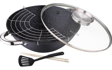 Sada wok pánve s příslušenstvím Bergner Wasabi