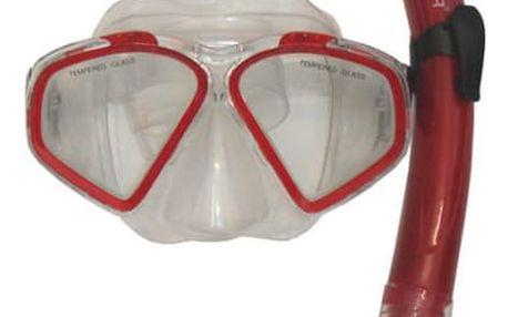 CorbySport 32589 Sada potápěčská - červená