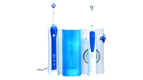 Orální centrum Oral-B Oral-B® ProfessionalCare™ Oxyjet+3000OC20 bílý/modrý + dárek Dárková sada Braun Gillette Fusion Proglide Flexball + gel (Dárková edice JUSTICE LEAGUE) + DOPRAVA ZDARMA