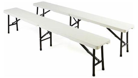 Garthen 2219 Skládací kempinková lavice, 2 ks