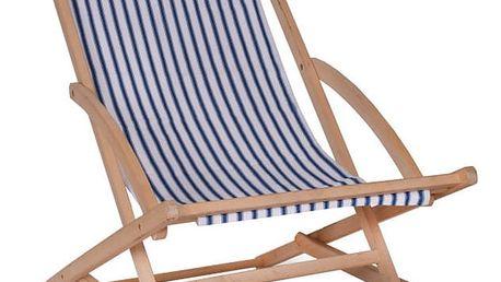 Zahradní lehátko Garden Trading Rocking Deck Chair Blue Stripe