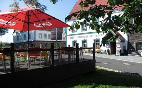 Dovolená v Krušných Horách v 3*Hotelu Svatý Hubert, s bohatými snídaněmi a večeřemi o 3 chodech.