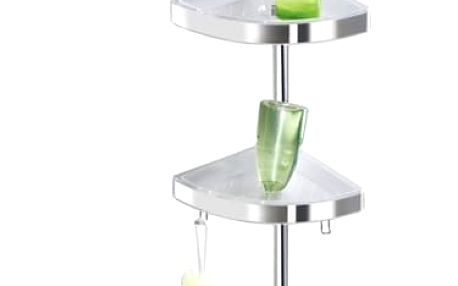 Koupelnová rohová police Premium Edge Shiny, 3 úrovně, zrcadlo, teleskopická, WENKO