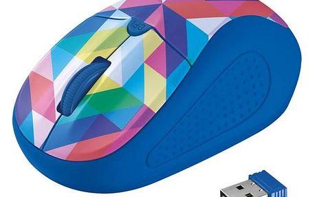 Trust Primo Wireless - blue geometry (21480)