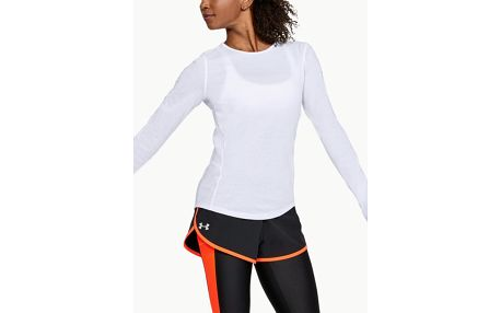 Tričko Under Armour Threadborne Swyft LS Bílá