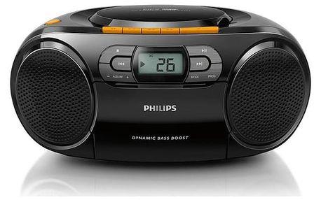 Radiomagnetofon s CD Philips AZ328 černý