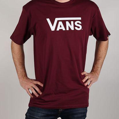 Tričko Vans Mn Classic Burgundy/White Červená