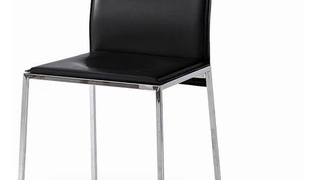 Sada 2 černých jídelních židlí Castagnetti Fax