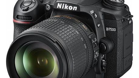 Digitální fotoaparát Nikon D7500 + 18-105MM černý