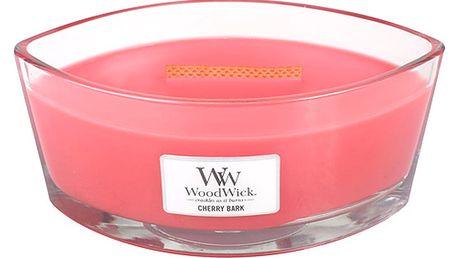 Vonná svíčka WoodWick Třešňová kůra, 453 g, 50 hodin