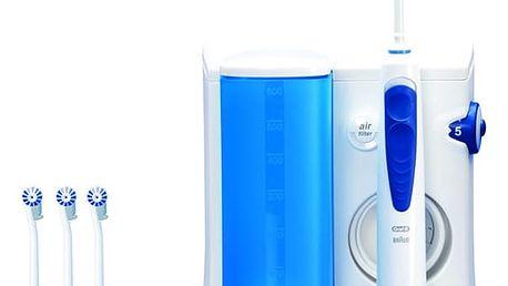 Ústní sprcha Oral-B Oral-B® ProfessionalCare™ Oxyjet MD20 bílá/modrá + dárek Dárková sada Braun Gillette Fusion Proglide Flexball + gel (Dárková edice JUSTICE LEAGUE)