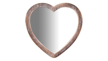 Zrcadlo ve tvaru srdce Biscottini Heart