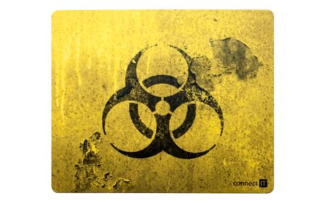 Podložka pod myš Connect IT Biohazard CI-194 černá/žlutá (CI-194)