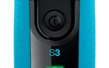 Holicí strojek Braun Series 3-3040s Wet&Dry černý/modrý
