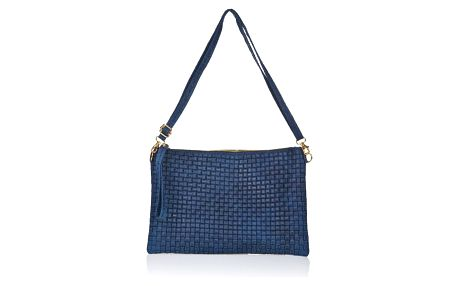 Modrá kožená kabelka Markese Tryphena