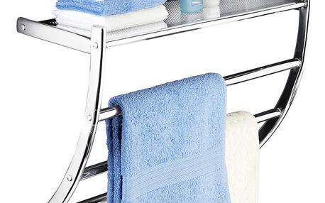 Věšák na ručníky PASCARA + koupelnová police, 2 v 1, WENKO