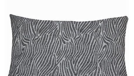 Šedý polštářek se zebrou by Loom In Bloom