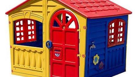 Dětský domeček Marian Plast Happy House zábavný červený/modrý/zelený + okamžitá sleva 15% + Doprava zdarma