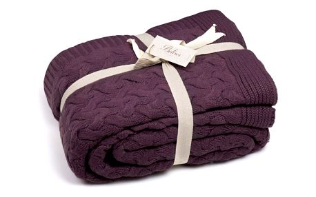Tmavě fialová deka Hannah, 170x130cm
