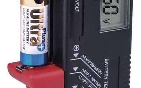 Emos Univerzální tester baterií AA,AAA,C,D,9V, knoflíkové