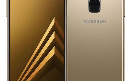 Mobilní telefon Samsung A8 Dual SIM - Gold (SM-A530FZDDXEZ) + DOPRAVA ZDARMA
