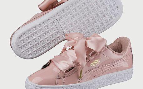 Boty Puma Basket Heart Patent Wn s Růžová
