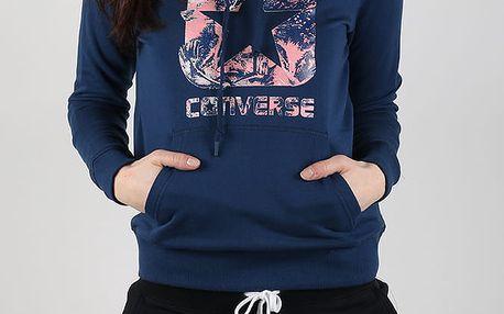 Mikina Converse Graphic Boxstar Pullover H Modrá