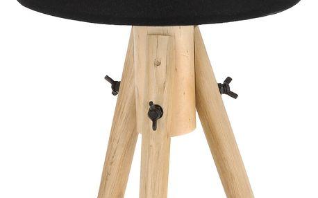Stolní lampička, dřevěná, stojací Emako