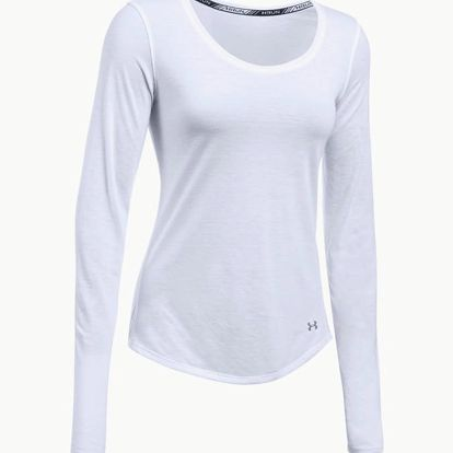 Tričko Under Armour Threadborne Streaker Long Sleeve Bílá