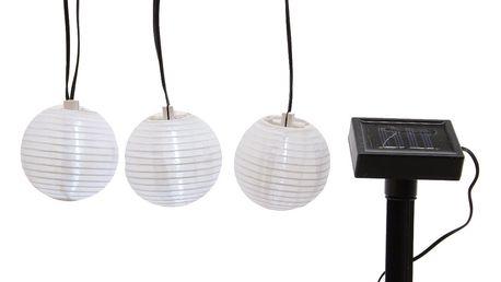 Solární girlanda Lampióny, 10 LED